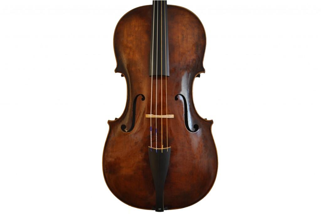 Barockcello nach Sympertus Niggel, Füssen (1778) (verkauft)Niggel-Cello-Decke