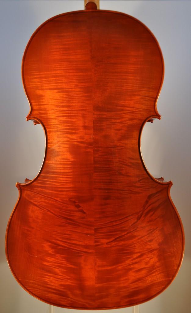 """Barockcello, Modell """"Gore Booth"""" A. Stradivari (Michael Hatting, 2009) Boden"""