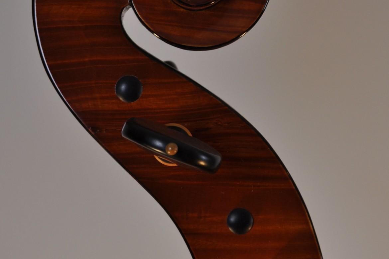 """Barockcello, Modell """"Gore Booth"""" A. Stradivari (Michael Hatting, 2009) Schnecke"""